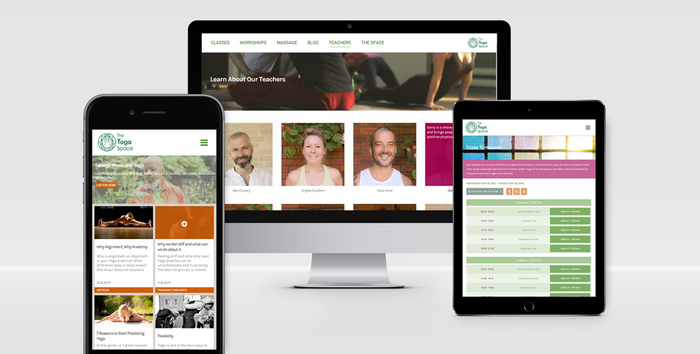 The Yoga Space Website Design