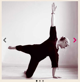 Pilates practised in a Yoga Studio, showing the improved user experience of an image carousel within a responsive design.